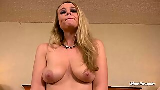 Blonde Cougar Gets Fucked In Her Ass And Facial
