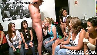 nice stripper gets his pecker sucked by various super-fucking-hot lovelies