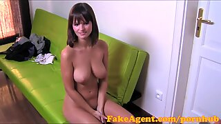 FakeAgent HD thick congenital hooters amateur in casting