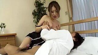 Sexy hairy pussy Hibiki Ohtsuki fucked hard