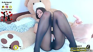 Sexy BootyX Sucks On A Rubber Cock While In Her Lingerie