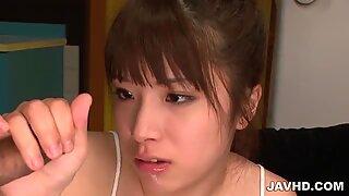 Cock loving Hinata Tachibana eats a dick until it explodes