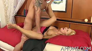 Mama receives her anal creampied
