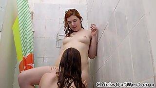 Showering natural aussies