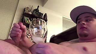 I Love to Swallow My Cum! Solo Male Cum Addict Gets Horny from Drinking Cum